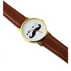 Bonjour Moustache Watch ($30) ❤ liked on Polyvore