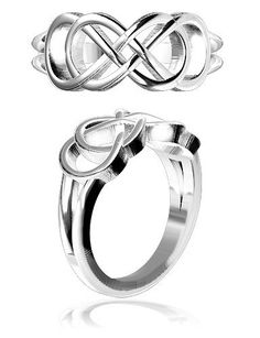 Amazon.com: Double Infinity Symbol Ring, Best Friends Forever Ring, Sisters Ring, 8mm in Sterling Silver - size 7: Sziro Jewelry Designs: Jewelry