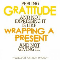 Gratitude is not an attitude, it's a practice.