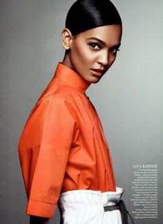 Liya Kebede -- Vogue April 2012 -- that makeup is gorgeous!