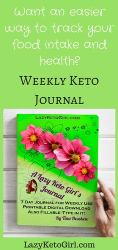 Lazy Keto Girls Weekly Journal and Food Diary for those on low carb, keto, or ANY diet! Ketogenic Recipes, Keto Recipes, Weight Loss Success Stories, Lchf Diet, Food Diary, Get Healthy, Lazy, Low Carb, Journal