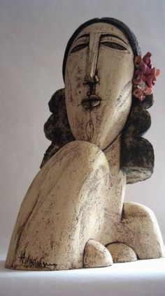 Kaith Anastasaki. Use this as a springboard for a hypertufa goddess sitting within a bed pf flowers and vines.