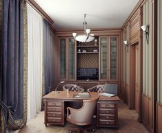 Кабинет в английском стиле - Галерея 3ddd.ru