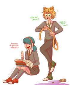 You won't learn by copying Adrien It only gets you turned into a kitty cat. Ladybug Y Cat Noir, Meraculous Ladybug, Ladybug Comics, Miraculous Ladybug Fanfiction, Miraculous Ladybug Fan Art, Lady Bug, Hogwarts, Adrien Y Marinette, Wolf Love