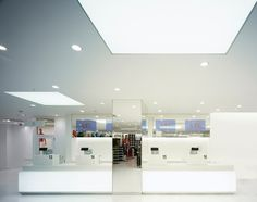 Uniqlo Megastore by Curiosity Tokyo 06 Display Design, Store Design, Visual Merchandising, Uniqlo, Cafe Counter, Retail Trends, Counter Design, Design Furniture, Commercial Interiors