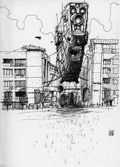 Sketch, Jan Buragay on ArtStation at https://www.artstation.com/artwork/WdZmD