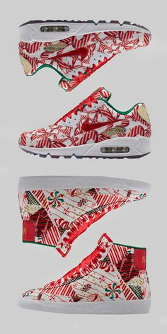 All dressed up in holiday cheer, the latest women's Air Max 90 and Blazer Mid sneakers arrive gift-wrapped in candy cane colors and red ribbon laces. Get the limited edition kicks exclusively in the SNKRS App: http://gonike.me/NSWWomensPack