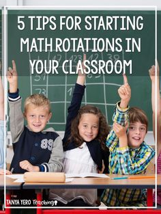 Learn five tips for starting math rotations in your classroom. Math centers and small group instruction can be overwhelming when starting out. Follow these five easy tips for a smooth transition! Use math rotations with 1st grade, 2nd grade, 3rd grade, 4th grade, and 5th grade!