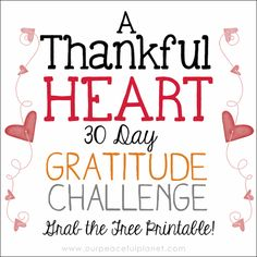 Here's a simple 30 Day Gratitude Challenge that just might be the thing you need to move into a happier healthier life! Download the free calendar to start!
