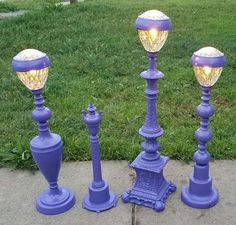 repurposed old lamps and candle holders with solar lights added. repurposed old lamps and candle holders with solar lights added. Solar Light Crafts, Diy Solar, Backyard Lighting, Outdoor Lighting, Lighting Ideas, Outdoor Lamps, Club Lighting, Fence Lighting, Wall Lighting