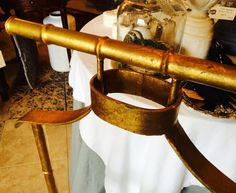 Gilded Faux Bamboo Valet Vintage Butler's Valet Mid