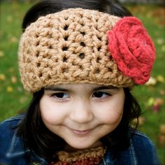 Rosette Headband with leaves by kariodesigns on Etsy