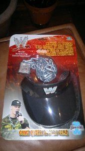 WWE JOHN CENA ROLEPLAY CAP & CHAIN & CLAW STICKER!: Amazon.co.uk: Toys & Games