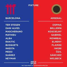 What's your thoughts on the team sheets? I'm shitting it right now.  #AFC #Arsenal #coyg #gunners #aosafc #fbc #barcelona