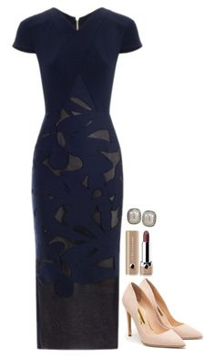 A fashion look from March 2016 featuring cotton dress, high heeled footwear and stud earrings. Browse and shop related looks. Classy Outfits, Chic Outfits, Beautiful Outfits, Fashion Outfits, Womens Fashion, Office Fashion, Work Fashion, Business Fashion, Fashion Design