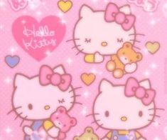 Hello Kitty My Melody, Sanrio Hello Kitty, Hello Kitty Tumblr, Pink Hello Kitty, Bedroom Wall Collage, Photo Wall Collage, Photowall Ideas, Photographie Indie, Hello Kitty Wallpaper