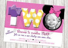 Minnie Mouse Birthday Invitation  Pink and by mommybrain2designs, $10.99