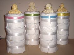 Bottle Shaped Diaper Cake via Etsy.