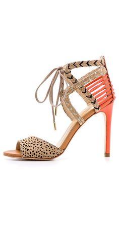 Dolce Vita Hexen Lace Up Haircalf Sandals | SHOPBOP
