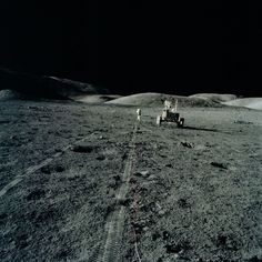 A relaxing Sunday drive. Apollo 17