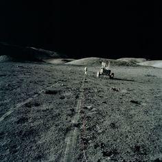 Apollo 17 - Rover tracks during EVA for Cernan & Schmitt