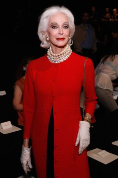 Carmen Dell'Orefice Photo - Chado Ralph Rucci - Front Row - Spring 2013 Mercedes-Benz Fashion Week