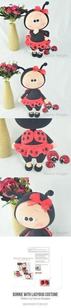 Bonnie With Ladybug Costume amigurumi pattern