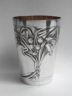 New Art Nouveau Silver Beaker Vereinigte Silberwarenfabriken D sseldorf eBay SOLD