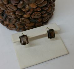 Ohrringe Ohrhänger Rauchquarz 925er Silber SO258 von Schmuckbaron
