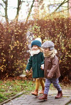 Winter jackets by Zara and Baby Dior, shoes by Jacadi Paris - Vivi & Oli Baby Fashion Life