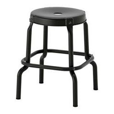 IKEA - RÅSKOG, Stool, Easy to move thanks to the hole in the seat.Plastic feet protect the furniture when in contact with a damp surface.