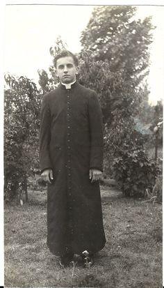 Two Vintage Catholic Priest Photos 1930s Cassock Biretta by ParagonAlley on Etsy