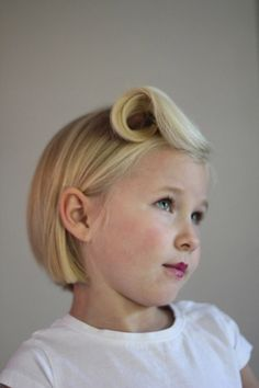 9 DIY Kids Hairstyles  I love the pin curl that I want to do on my own hair