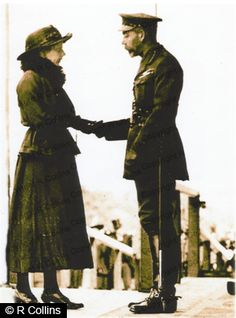 WWI, Feb 1917; Tom Mottershead's Widow accepting his posthumous VC from King George V.