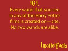Harry Potter Facts Wands