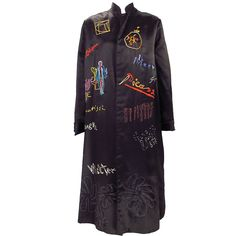 1920s silk embroidered art coat