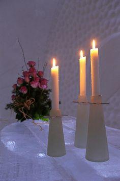 Luvattumaa Levi Ice Gallery Häät Weddings www. Snow Castle, Ice, Candles, Weddings, Gallery, Mariage, Wedding, Marriage, Ice Cream