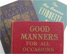 Vintage Etiquette Books - Denver Tea Room