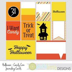 Halloween Candy Corn Digital Scrapbooking by PluckyLimeDesigns