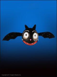 Glitterville Halloween, Spooky Kooks Ornament - Bat