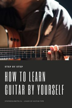 Learning guitar on your own has never been easier, with this guide you'll have no trouble with finding the best method for you! Learn Acoustic Guitar, Guitar Strumming, Guitar Chords Beginner, Guitar Chords For Songs, Guitar Riffs, Fingerstyle Guitar, Learn To Play Guitar, Music Guitar, Playing Guitar