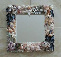 "Neptune's Garden "" Seashell mirror 18x18"" by RitasSeashellDesign on Etsy"