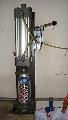 pneumatic can crusher I found while surfing the web.