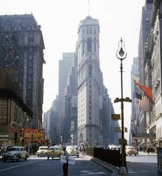 Times Square and Broadway,1955.