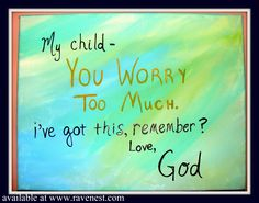 """Hand painted sign...""""Dear Child...Love God"""""""