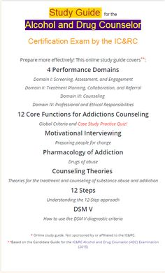 Free addiction counselor practice test offered by testprepreview what to expect and how to prepare for the icrc alcohol and drug counselor exam fandeluxe Images