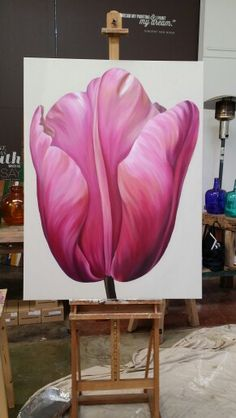Tulip 120 cm x 90cm acrylic on canvas SOLD