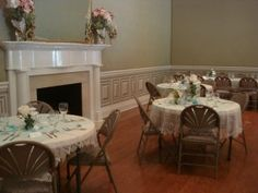 The beautiful 1820 mantle in Maney Hall, decorated for a romantic Oaklands wedding!