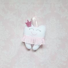 Tooth Fairy Pillow Tooth Keeper White tooth by MiracleInspiration