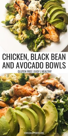 Jun 20, 2021 - Green Goddess Meal Prep Chicken Bowls - healthy meal prep recipe that is refreshing, filling and very delicious! The recipe makes 3 servings. Healthy Meal Prep, Healthy Lunch Foods, Healthy Cooking, Healty Meals, Healthy Eating, Cooking Recipes, Healthy Recipes, Chicken Meal Prep, Easy Chicken Recipes